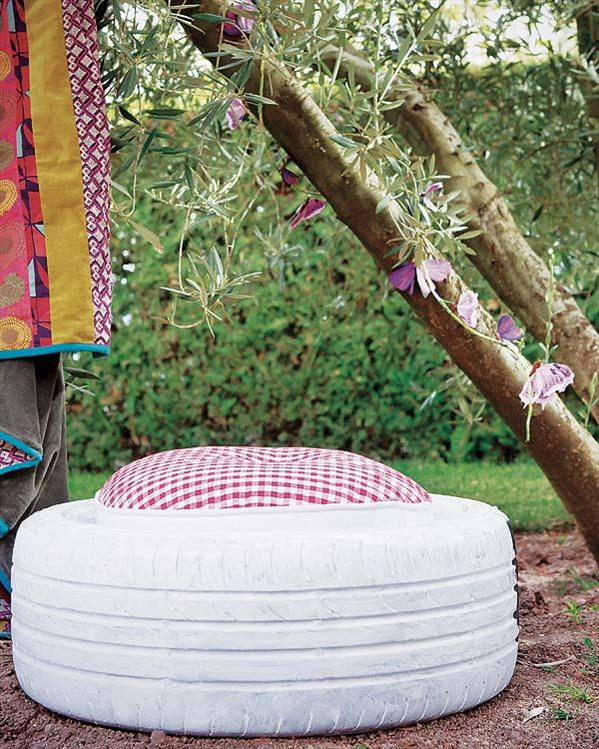 Tires Into Lovely Garden Stools